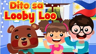 Here We Go Looby Loo in Filipino | Philippines Kids Nursery Rhymes & Songs | Awiting Pambata