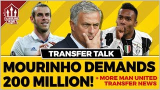 Mourinho's 200 Million Transfer Demand! Manchester United Transfer News