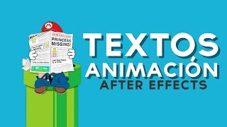 Animación de Textos After Effects Tutorial