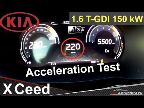 Kia XCeed 1.6 T-GDI (150 KW) - Acceleration Test 220 Km/h