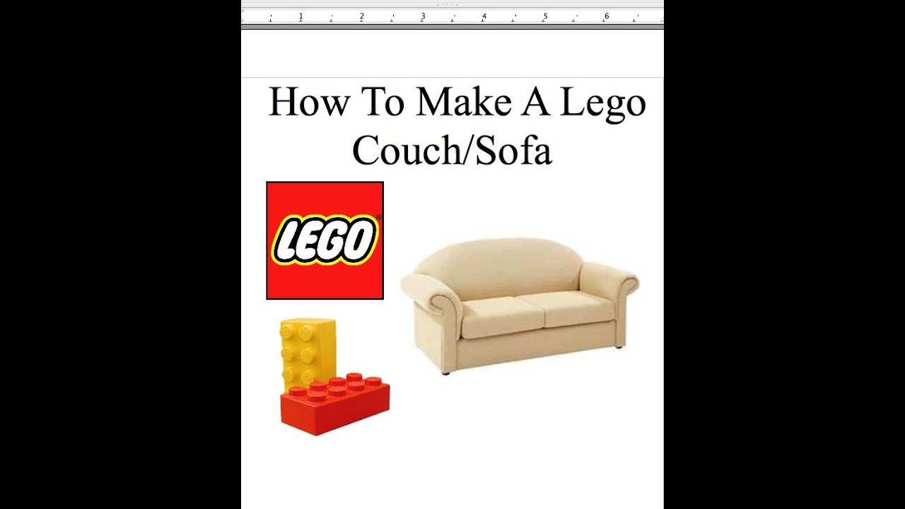 How To Make A Lego Couch Sofa Youtube