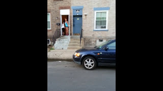 Trenton street fight girl knock her boyfriend out