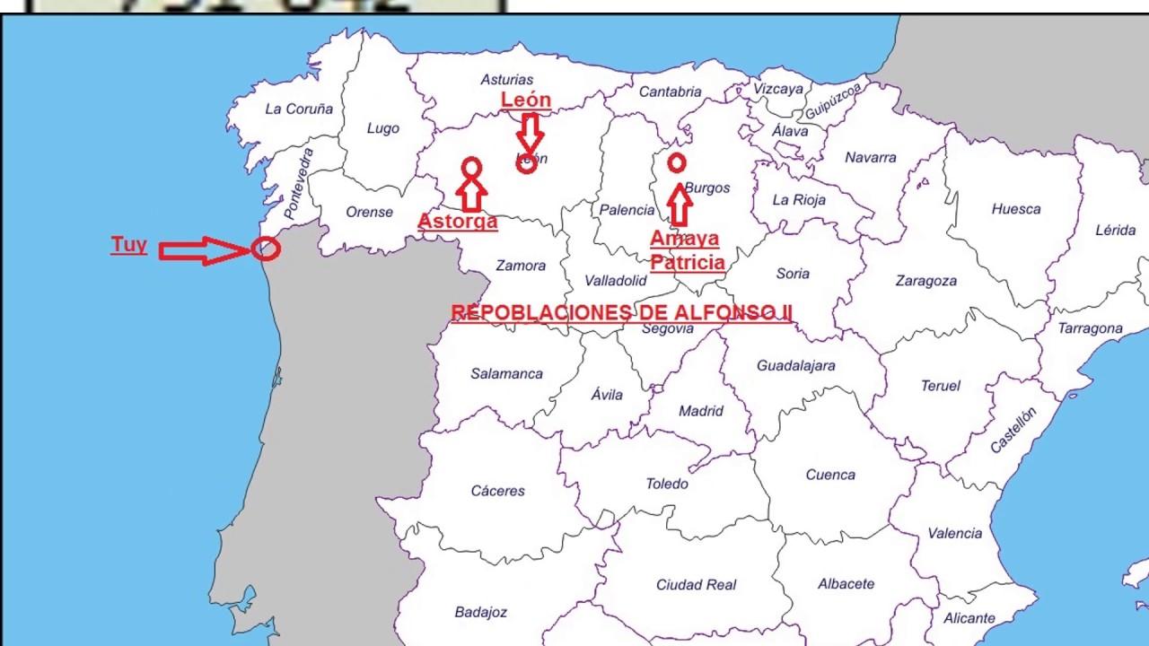 Mapa Reino De Asturias.El Reino De Asturias Youtube