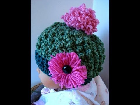591c99a3a99 How to Crochet a Hat. Free Bobble Stitch Hat Crochet Pattern.  SweetPotatoPatterns