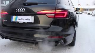 STUNNING black 2018 Audi RS4 450 PS  with black optics   Start up revs  dynamic turning signals etc