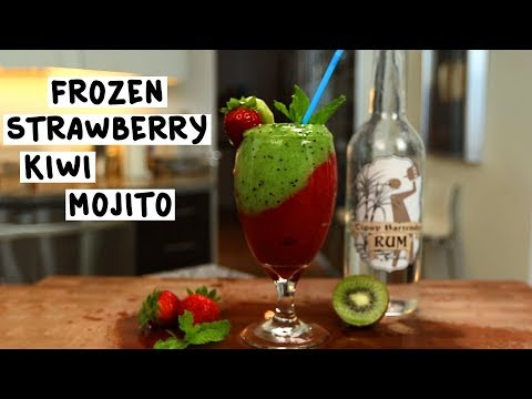 Frozen Strawberry Kiwi Mojito