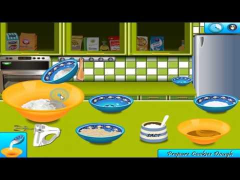 เกมส์ทําอาหาร, เกมทำอาหาร Saras Cooking Peanut Butter Cookies - Cooking Games