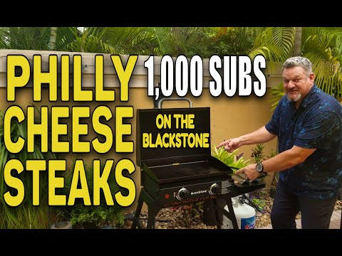 "Philly Cheese Steaks on the Blackstone 22"" Griddle 