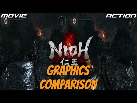 Nioh (PS4) - Action Mode Vs. Movie Mode Settings Graphics Comparison (Resolution Vs. FPS)