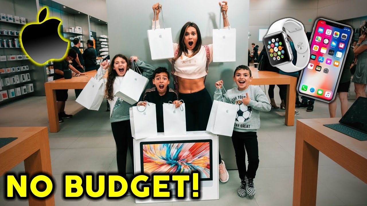 WE BOUGHT EVERYTHING AT THE APPLE STORE **NO BUDGET** | The Royalty Family - YouTube
