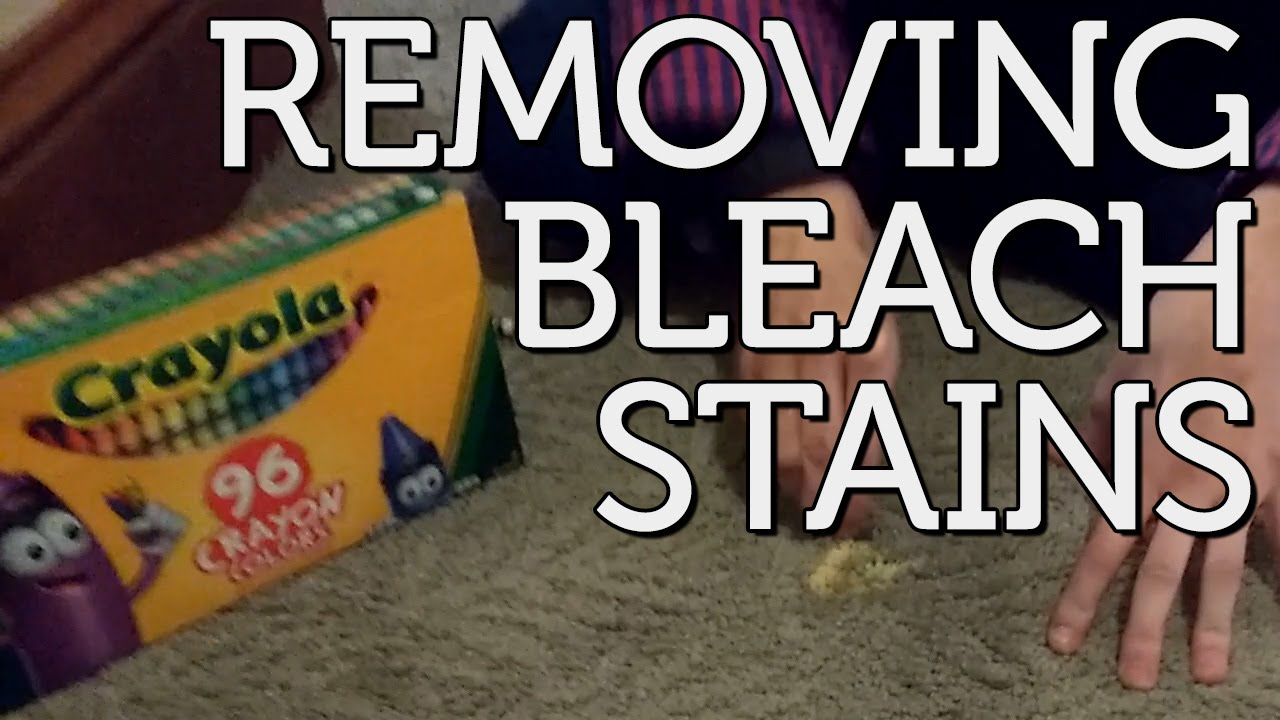Removing Bleach Stains From Carpet Youtube