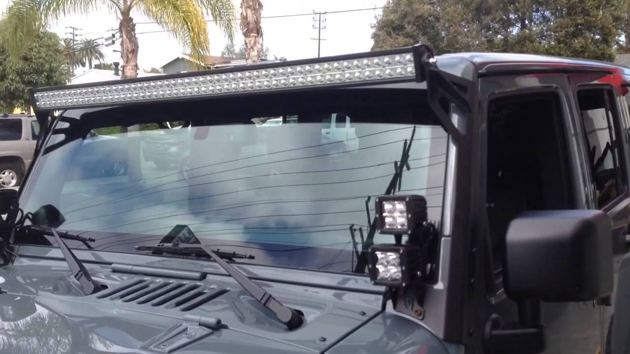 Led Light Bar Wiring In A Jk Jeep