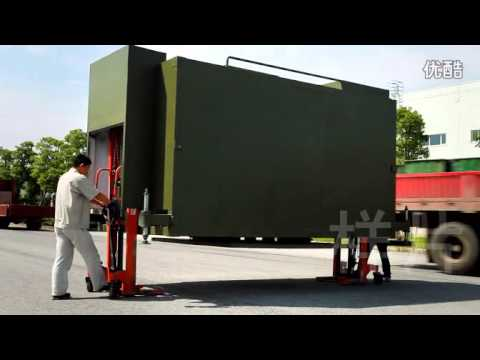 Mobile Telecom Shelter with Heavy duty Pneumatic Mast Tower
