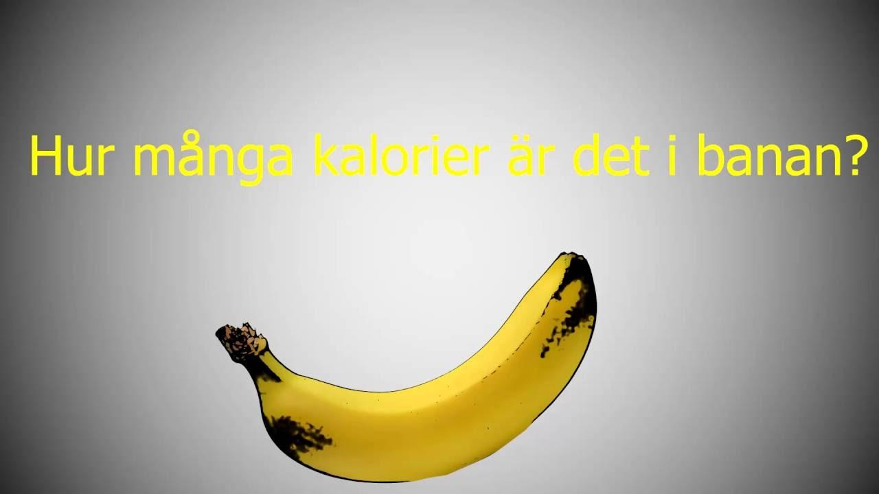 hur många kcal i en banan