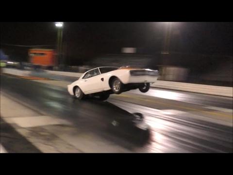 Nitrous Camaro massive wheelie at the Valentines day massacre