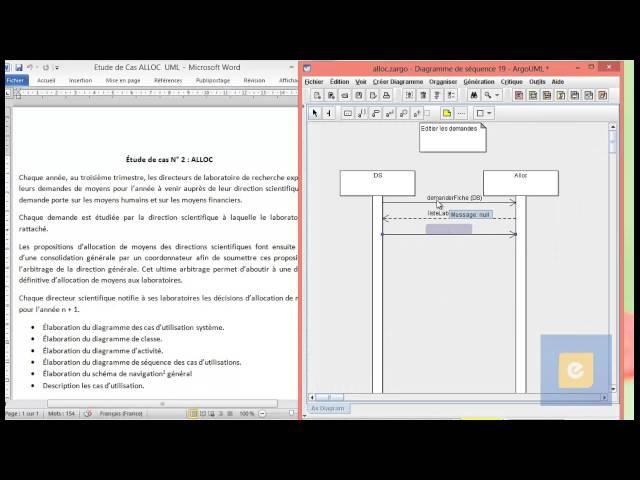 Etude de Cas ALLOC : Diagramme de Séquence du cas ' Editer les demandes'