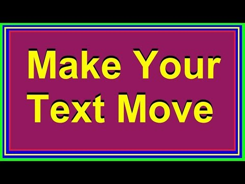 Step By Step Way To Create Stylish Moving Texts On Your Blog Or Website