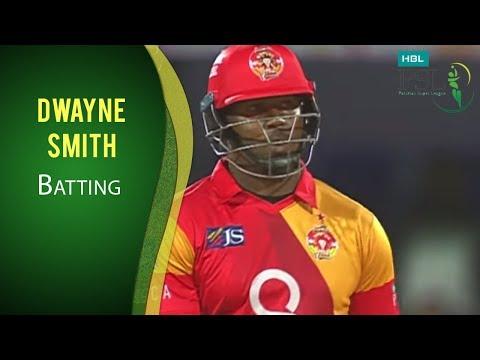 PSL 2017 Match 12: Islamabad United vs Peshawar Zalmi - Dwayne Smith Batting