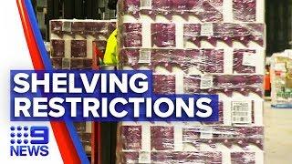 Coronavirus: Coles' distribution centre packed with toilet paper | Nine News Australia