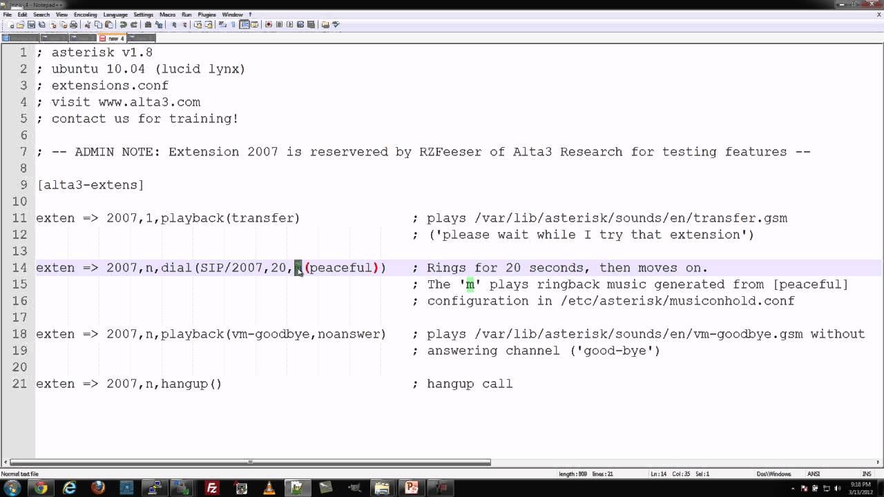 Alta3 Research - Custom ringback tones in Asterisk (SIP)