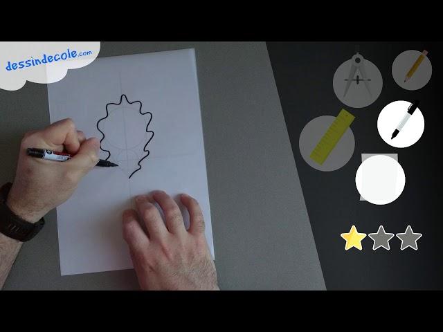 Tuto Gribouillie - Dessiner une feuille de chêne