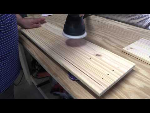 Amateur Wood Finishing 101:  Introduction to Sanding and Pre-treating Wood (Part 1)
