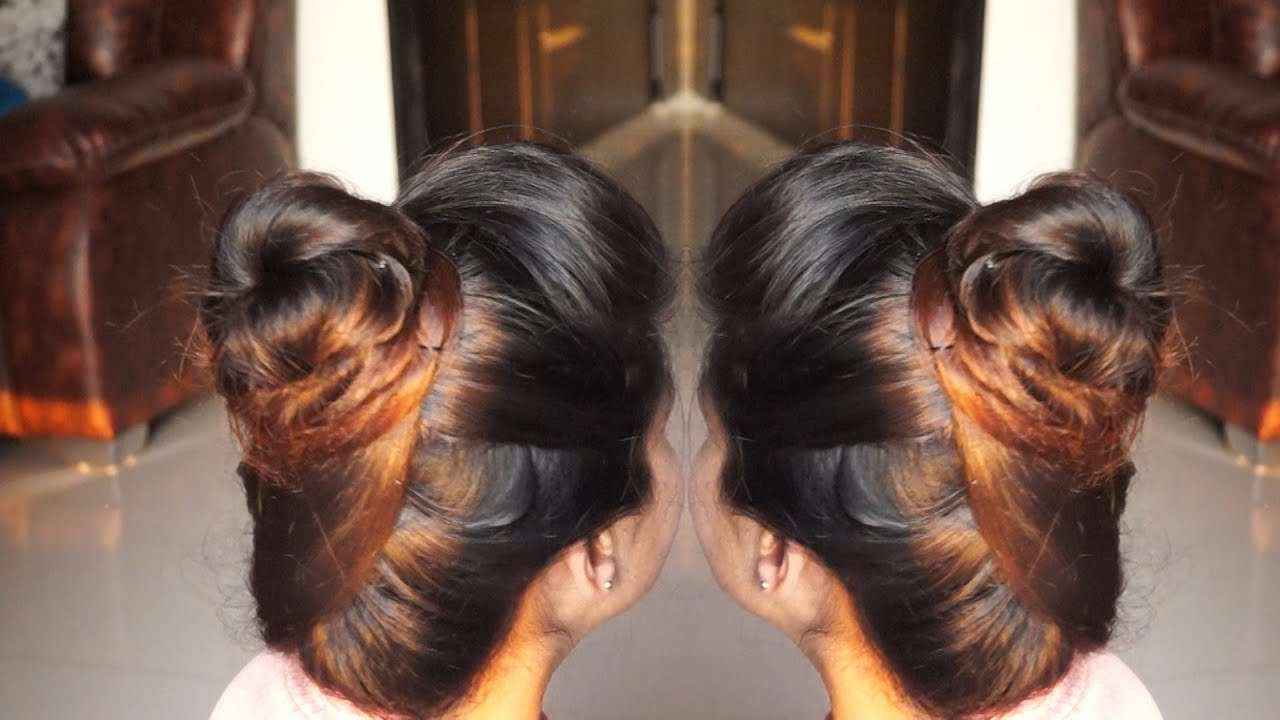 High And Beautiful Hair Bun For Office Or College