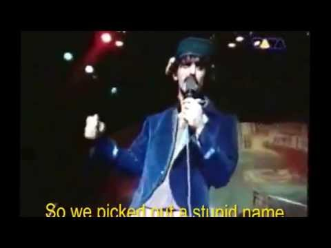 Joe´s Garage, by Frank Zappa, with subtitles on the screen!