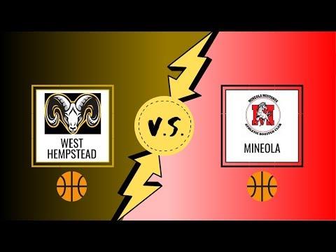 West Hempstead Boys Varsity Basketball Vs Mineola