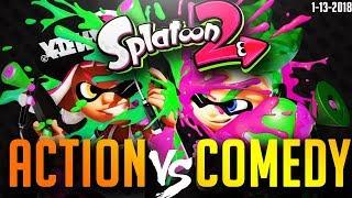 【🔴LIVE】Splatoon 2 Splatfest - Action vs Comedy