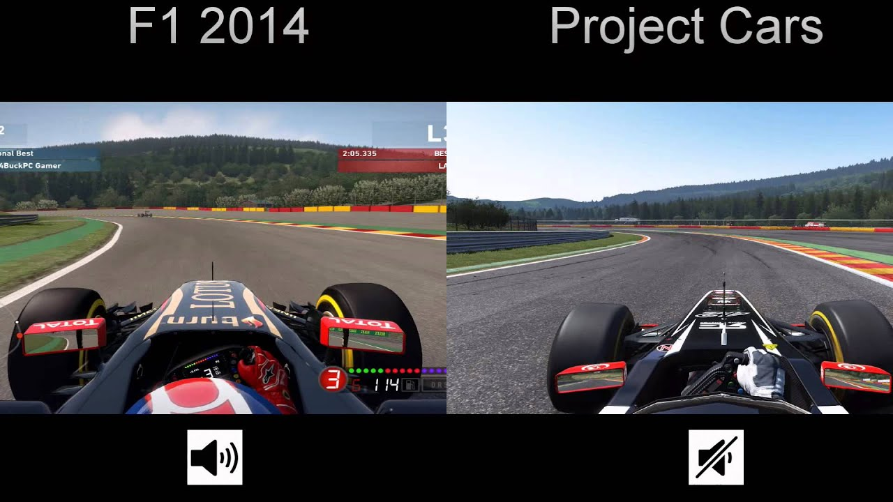 f1 2014 vs project cars youtube. Black Bedroom Furniture Sets. Home Design Ideas