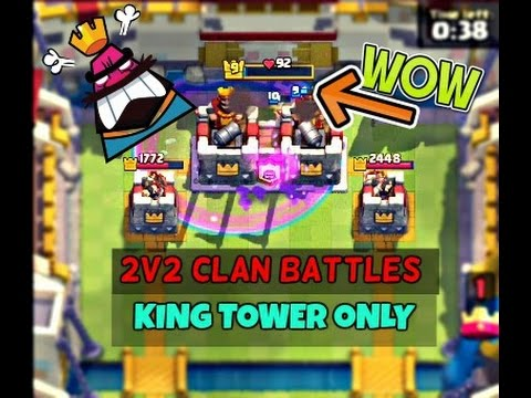 Clash Royale - How To Destroy The King Tower Directly   2v2 Clan Battles