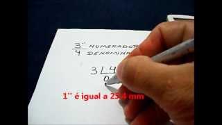 Converter polegada para milímetro-Com ROBSON MELLO