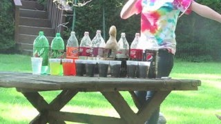 Soda and Mentos Experiment