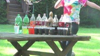 Soda and Mentos Experiment