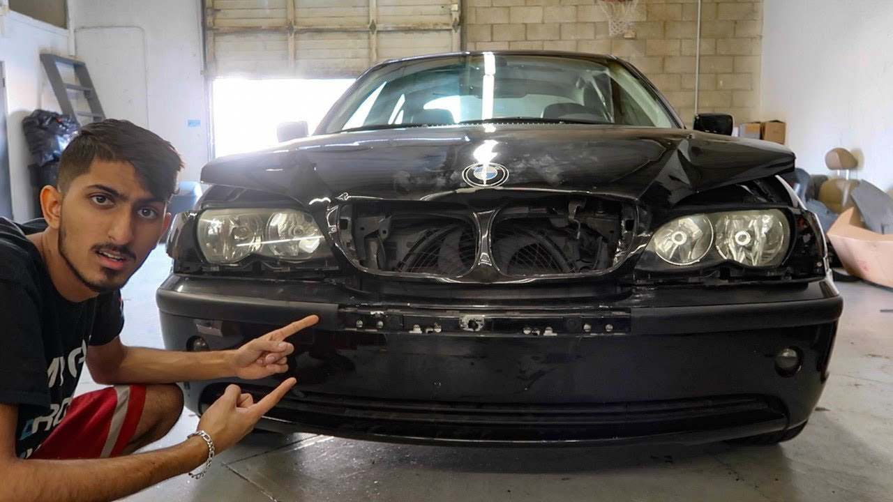 WATCH ME FIX THIS WRECKED BMW E46!