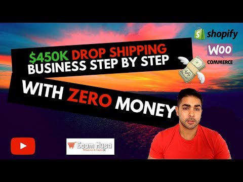 How To Start Dropshipping With No Money 2018 | $450k In First Year! thumbnail