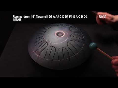 "Tongue Drum 15"" 12 Notes Tarzanelli video"