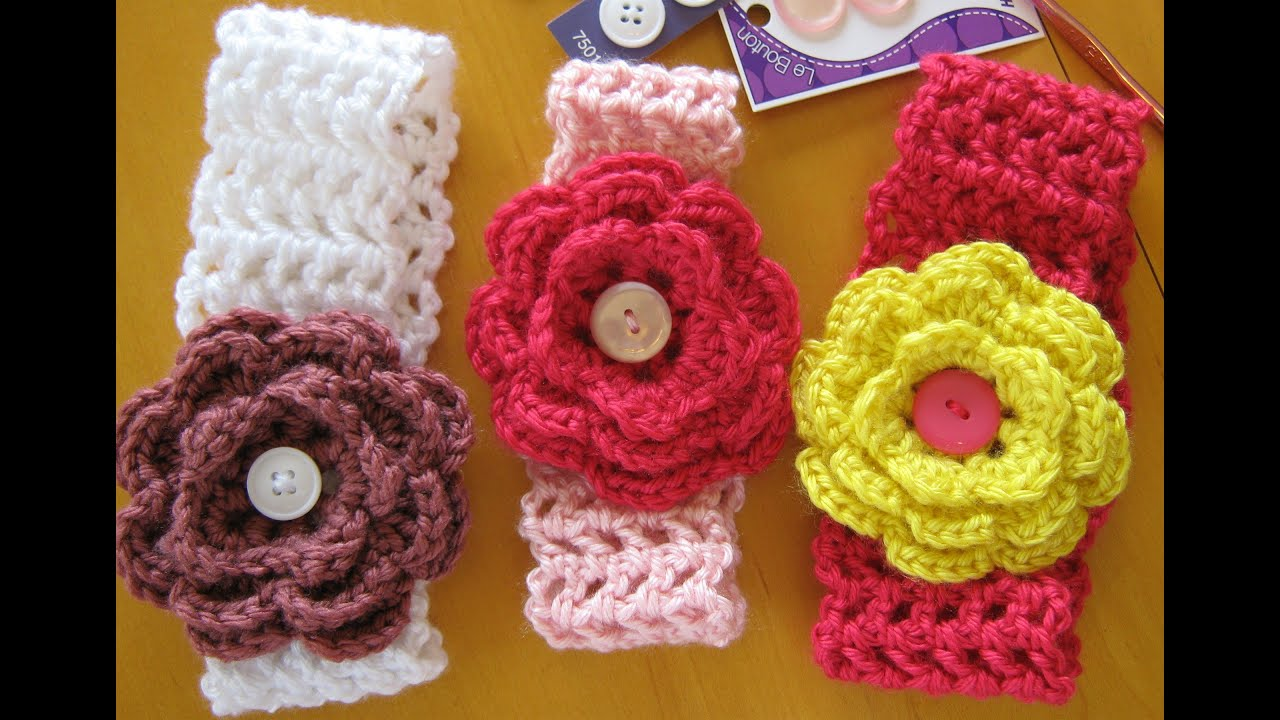Youtubecroche : how to crochet a hairband or headband (all sizes) - YouTube