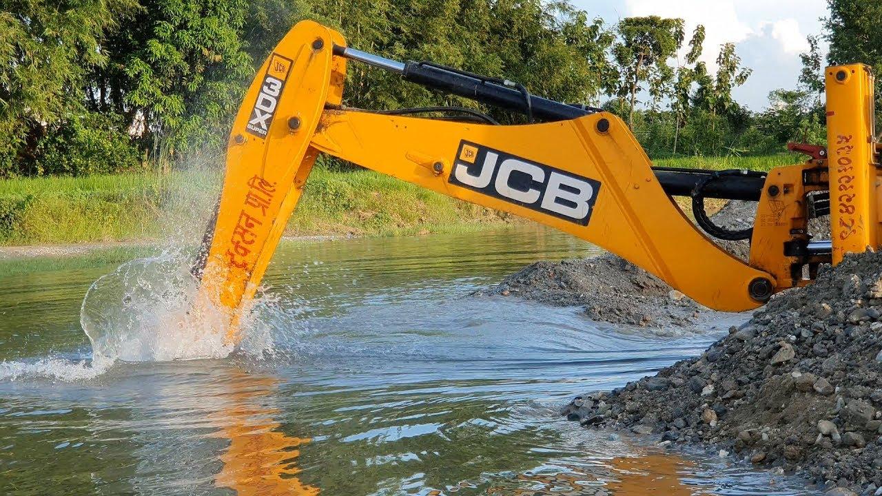 JCB Dozer Amazing Work on Sandy River - JCB Making Dam in River - JCB Video