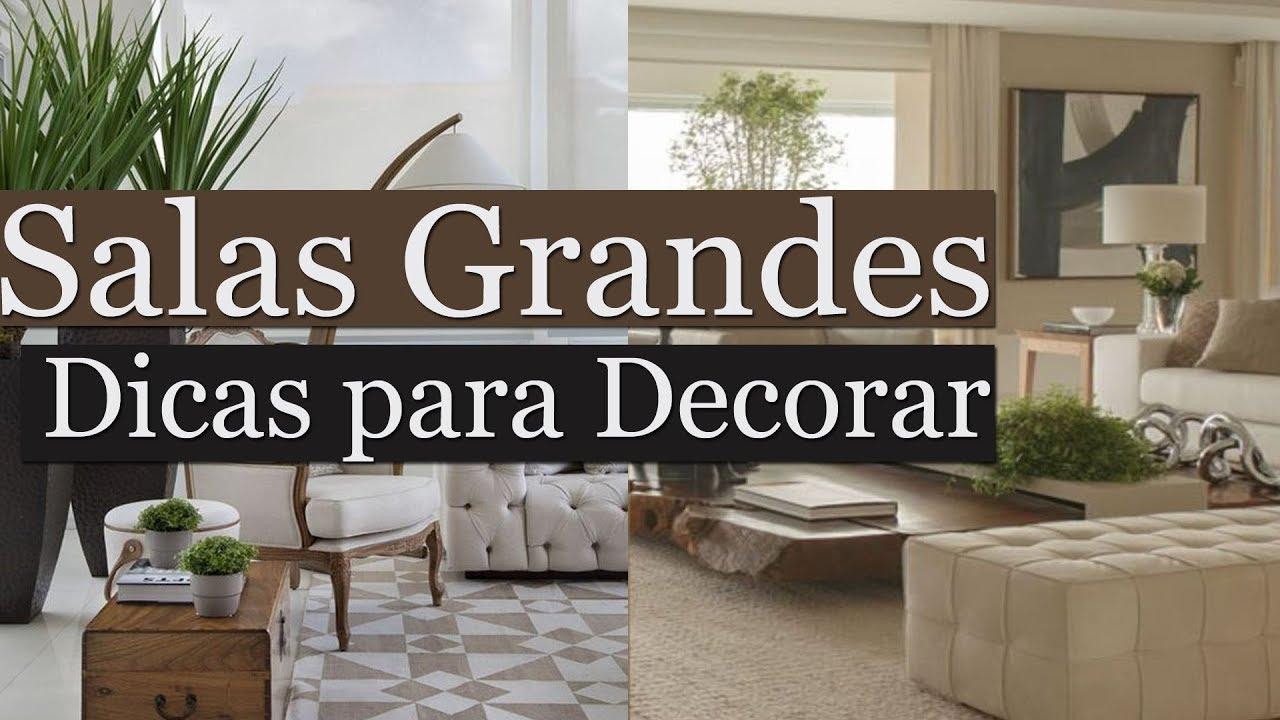 Como Decorar Sala Grande Por Maryane Nunes YouTube