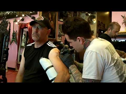 Bill At High Voltage Tattoo With Dan Smith