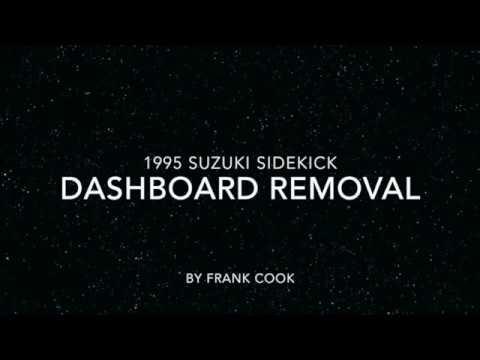 1995 Suzuki Sidekick Dash Dashboard Removal Youtube