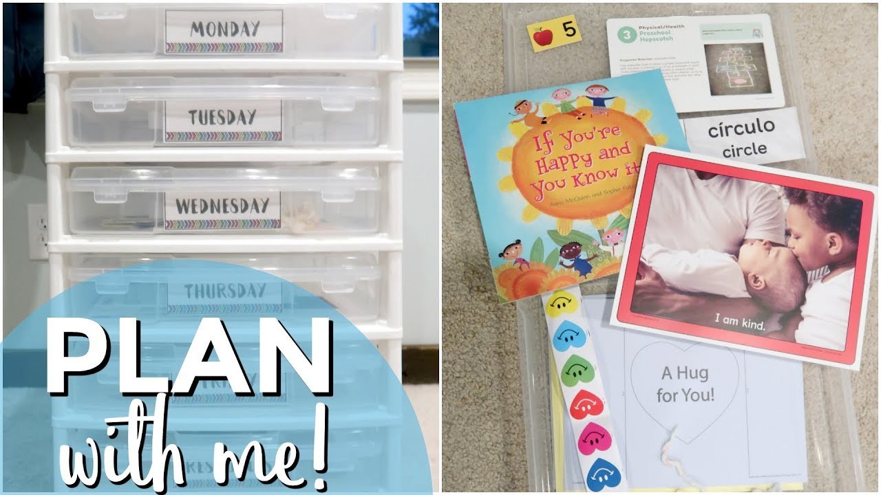 Plan With Me Preschool Curriculum Funshine Express For In Home Daycare