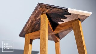 Make a Wavy Joint Side Table With Tapered Legs