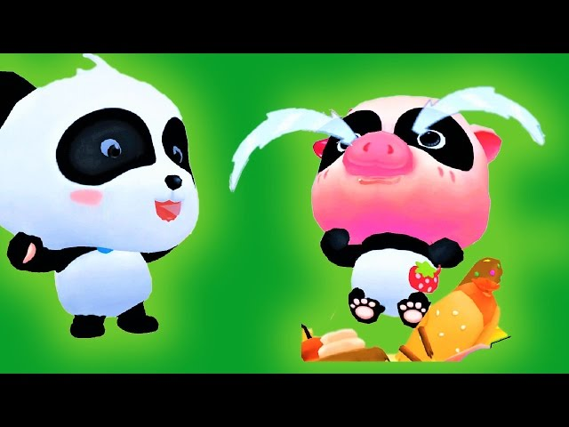 Labyrinth Town | Help The Little Panda- Fight Monsters Food | Baby Panda Kids Games