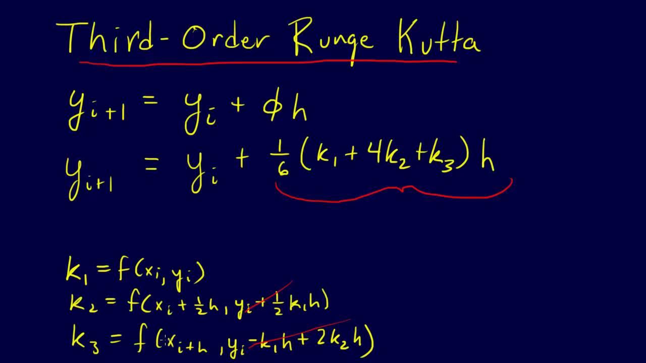 7 1 7 Odes Third Order Runge Kutta Youtube
