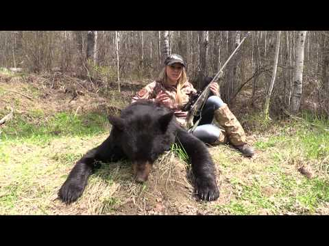 Bear Hunting in Alberta Canada with Montana Rifle Company 300 Win Mag Kyrptek