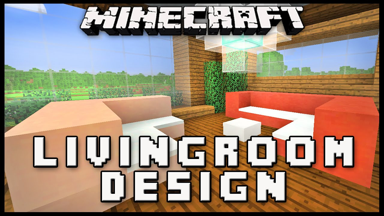 Modern Living Room Minecraft minecraft tutorial: living room furniture design (modern house