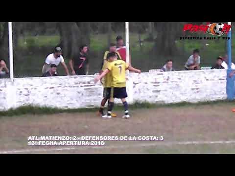 GOLES MATIENZO VS DEFENSORES DE LA COSTA APERTURA 2018